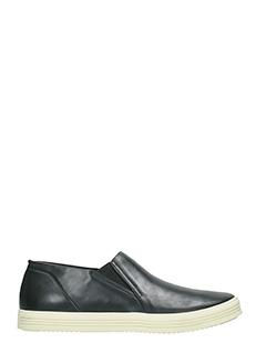 Rick Owens-Sneakers Mastodon Deck in pelle nera
