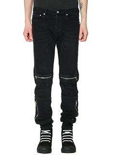 Givenchy-Jeans biker in cotone nero