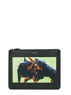 Givenchy-Pochette Large Rottweiler  in pelle nera