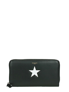 Givenchy-Zipped Black Star continental Wallet