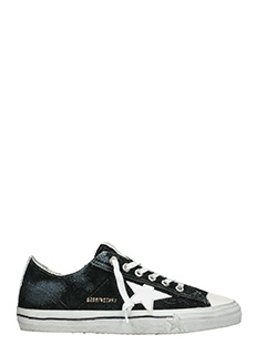 Golden Goose Deluxe Brand-Sneakers V Star in camoscio nero