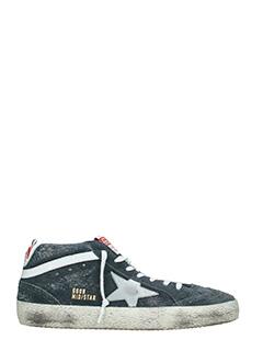 Golden Goose Deluxe Brand-Sneakers Mid Star in camoscio grigio