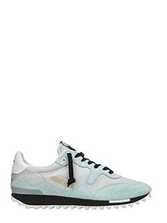 Golden Goose Deluxe Brand-Sneakers Starland in camoscio e tessuto grigio