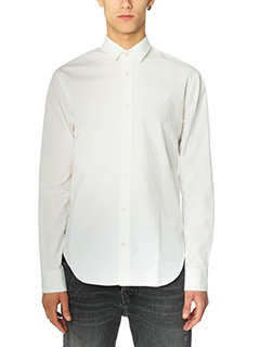Golden Goose Deluxe Brand-Camicia Slim Oxford in cotone bianco