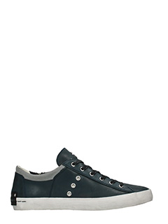 Crime-Sneakers basse in pelle blue grigia