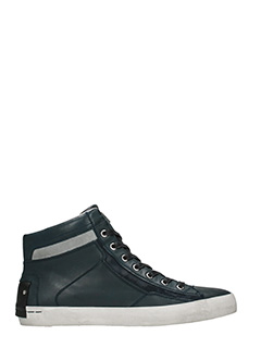 Crime-Sneakers alte in pelle blue grigia