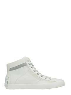 Crime-Sneakers alte in pelle bianca