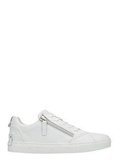 Crime-Sneakers low in pelle bianca