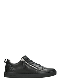 Crime-Sneakers low in pelle nera
