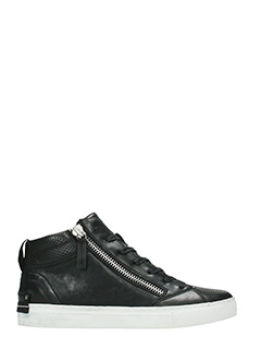 Crime-Sneakers mid in pelle nera