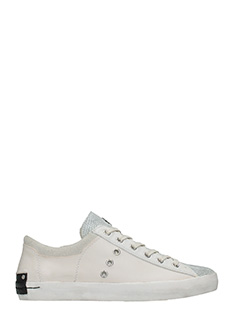 Crime-Sneakers basse in pelle cipria