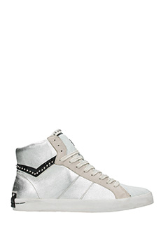 Crime-Sneakers High in pelle argento