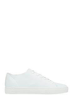 Crime-Sneakers basse in pelle bianca