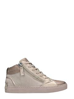 Crime-Sneakers in pelle cipria