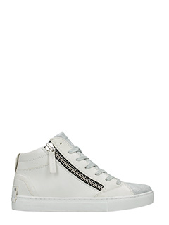 Crime-Sneakers in pelle bianco