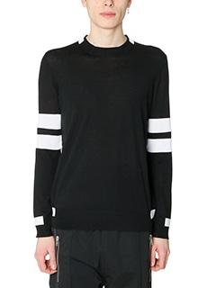 Givenchy-Maglia in cotone nero bianco