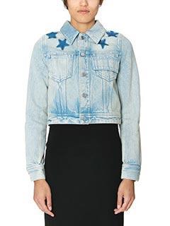 Givenchy-Giacca in denim azzurro