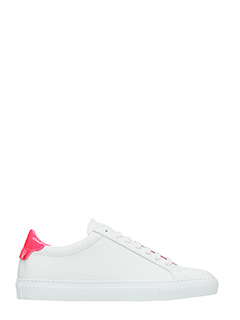 Givenchy-Sneakers Low Urban Street in pelle bianca rosa fluo