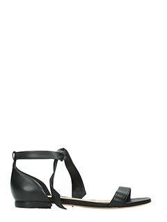 Alexandre Birman-Sandali Clarita Flats in pelle nera