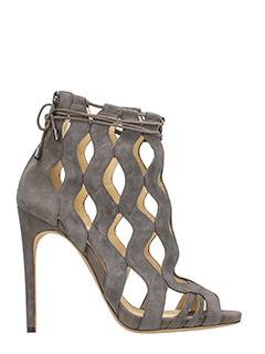 Alexandre Birman-Loretta  taupe suede ankle boots
