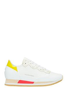 Philippe Model-Sneakers BrightLow in pelle bianca