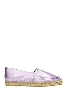 Kenzo-Tiger Viola leather espadrilles