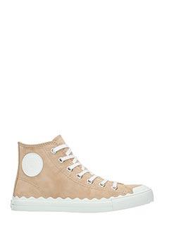 Chlo�-Sneakers Kyle in camoscio beige