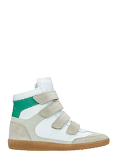 Isabel Marant-Sneakers Bilsy in pelle e camoscio bianco taupe