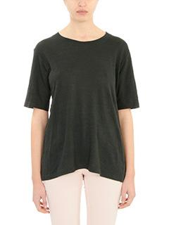 Isabel Marant Etoile-Kendriw black cotton and linen t-shirt
