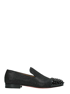 Christian Louboutin-Spooky flat pat black leather loafers