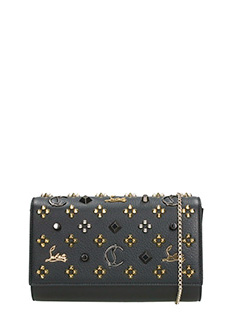 Christian Louboutin-Paloma clutch black leather clutch