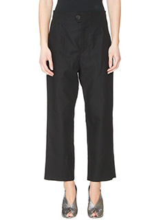Isabel Marant-Pantaloni Sola  in cotone nero