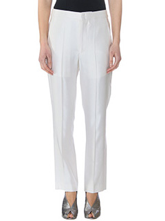 Isabel Marant-Pantalon Roan  in viscosa ecru