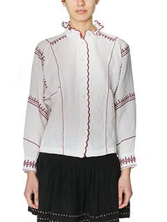 Isabel Marant Etoile-Delphine beige cotton and linen shirt