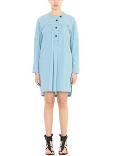 Isabel Marant Etoile-Vestito Anise in chambray di cotone celeste