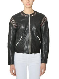Isabel Marant Etoile-Buddy black leather outerwear