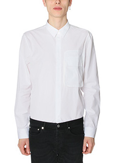 Givenchy-Camicia in popeline di cotone tascone con patta