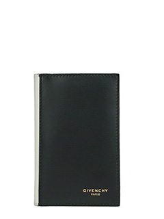 Givenchy-Slg billf 6cc black leather wallet