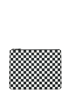 Givenchy-Pochette Large Chess  in pelle bianca nera