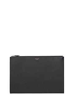 Givenchy-Pochette A4   in pelle nera-chiusura con zip