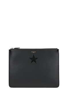 Givenchy-black leather clutch