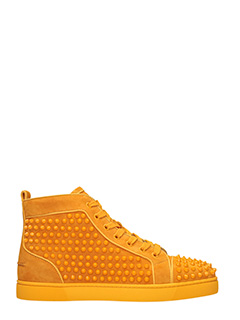 Christian Louboutin-Sneakers Louis Orlato in camoscio arancione