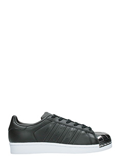 Adidas-Superstar metal black leather sneakers