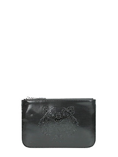 Kenzo-Pochette Small Tiger  in pvc nero