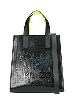 Kenzo-Borsa Mini Tiger Tore in pvc metal ner