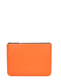 Kenzo-Pochette Neon Tiger Clutch in pvc arancione