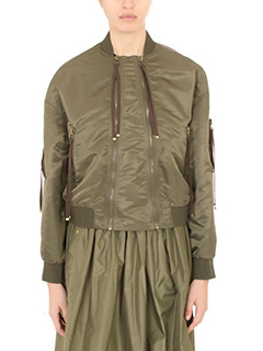 Kenzo-Bomber Elevated Bomber in nylon verde