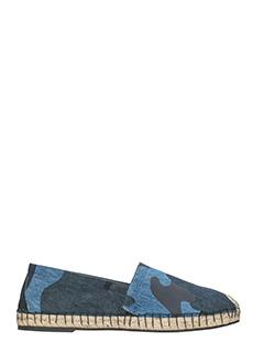 Valentino-Espadrillas in canvas camouflage blue