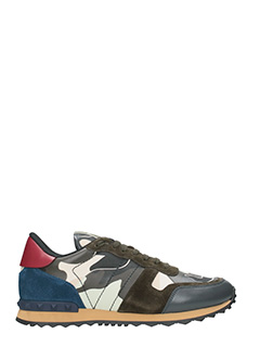 Valentino-Rockrunner brown leather sneakers