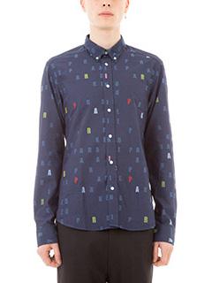 Kenzo-Camicia Paradise in cotone blu